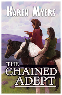 Image of The Chained Adept, book 1 of The Chained Adept fantasy series by Karen Myers