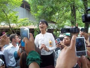 Suu Kyi at Mae La