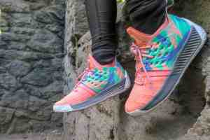 pair of colorful walking shoes