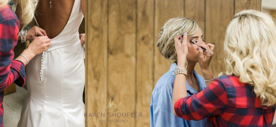 Bride Getting Ready by Karen Shoufler
