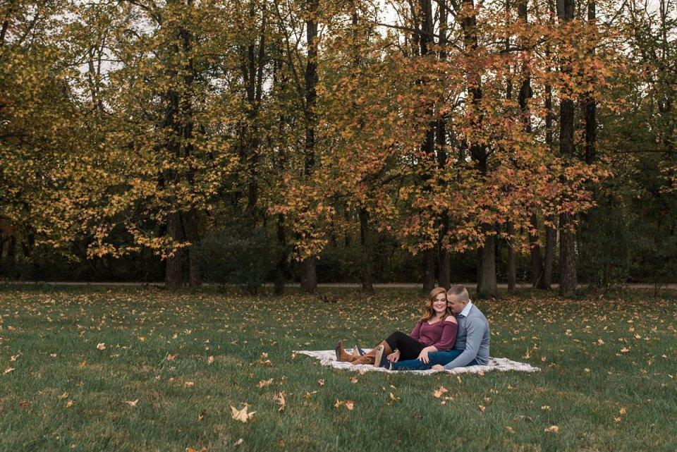 Allerton Park Fall Engagement Session