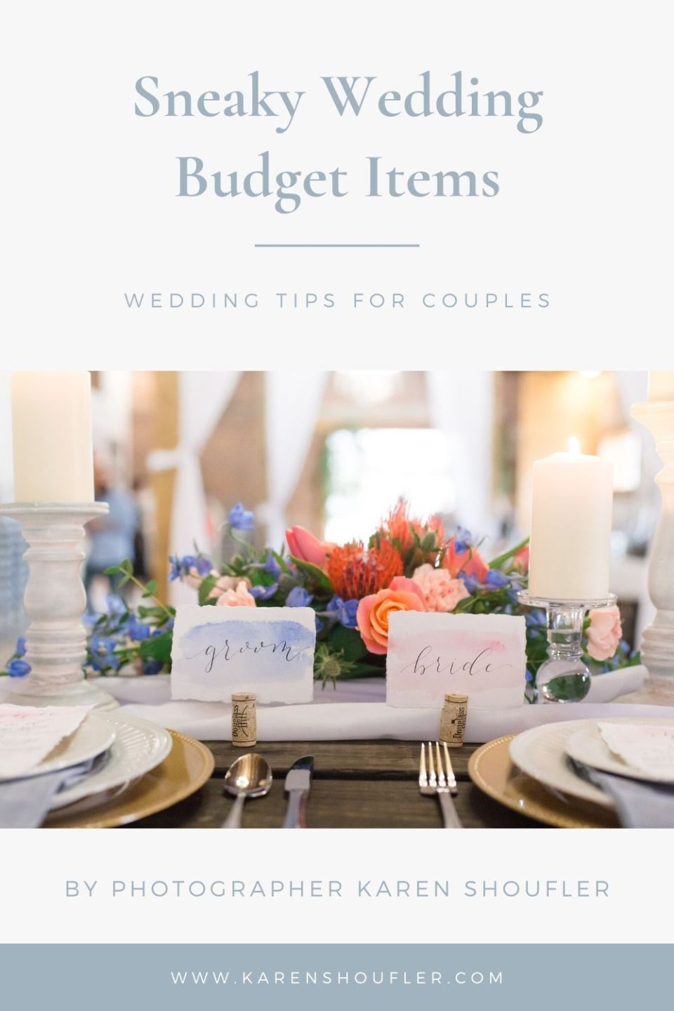 Sneaky Wedding Items to Add to Budget