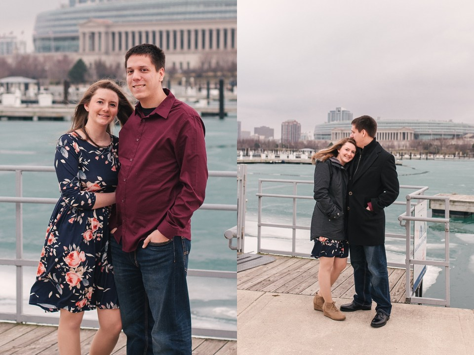 Downtown Chicago Lake Michigan Engagement | www.karenshoufler.com