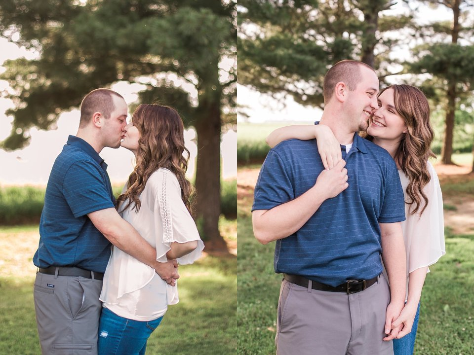 Cute romantic engagement session poses
