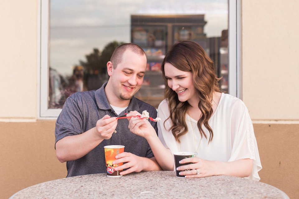 Engagement photos for Dairy Queen lovers
