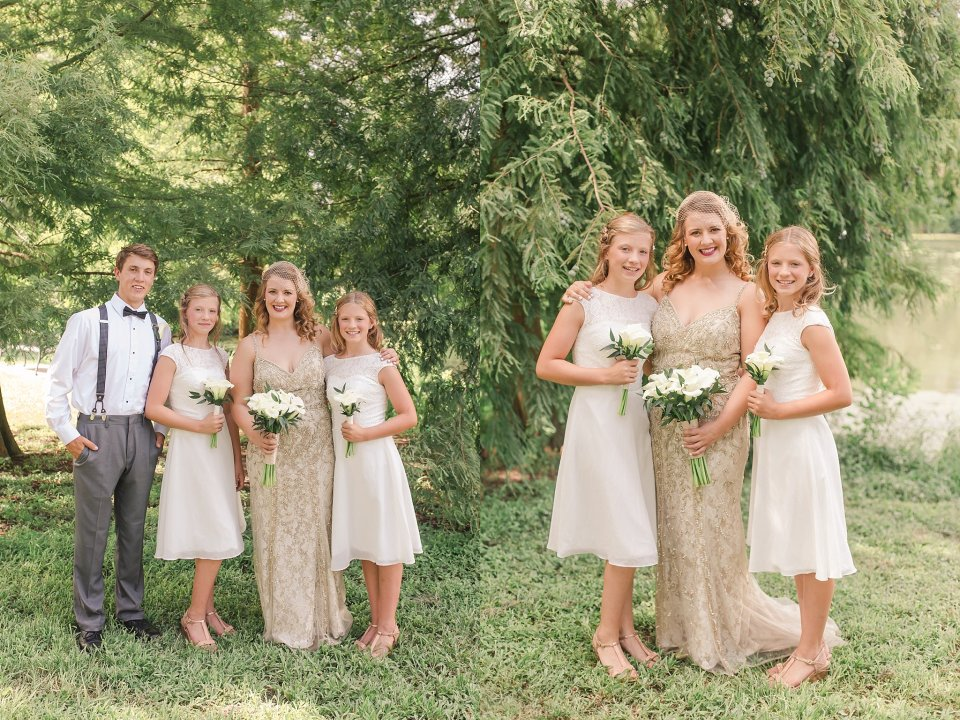 Classic Wedding Party at Audubon Park in New Orleans by Destination Wedding Photographer Karen Shoufler