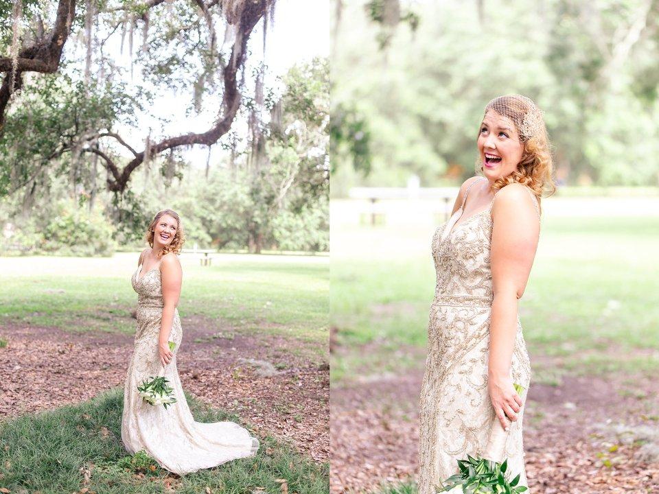 Bridal Wedding Portraits in Audubon Park New Orleans by Karen Shoufler
