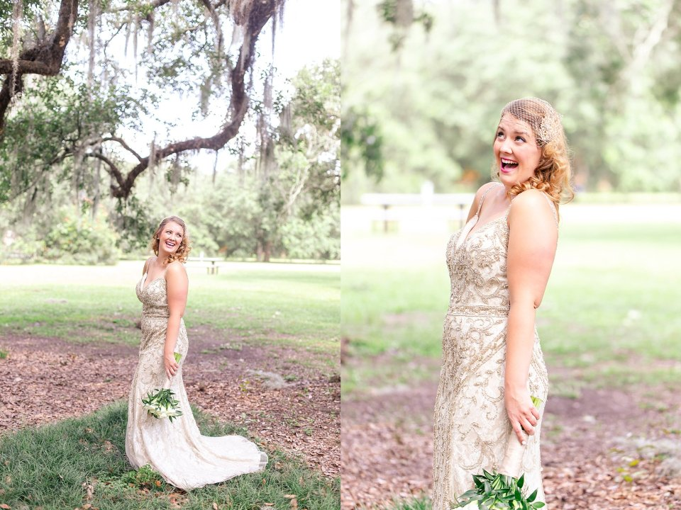 Bridal Wedding Portraits in Audubon Park New Orleans by Karen Shoufler