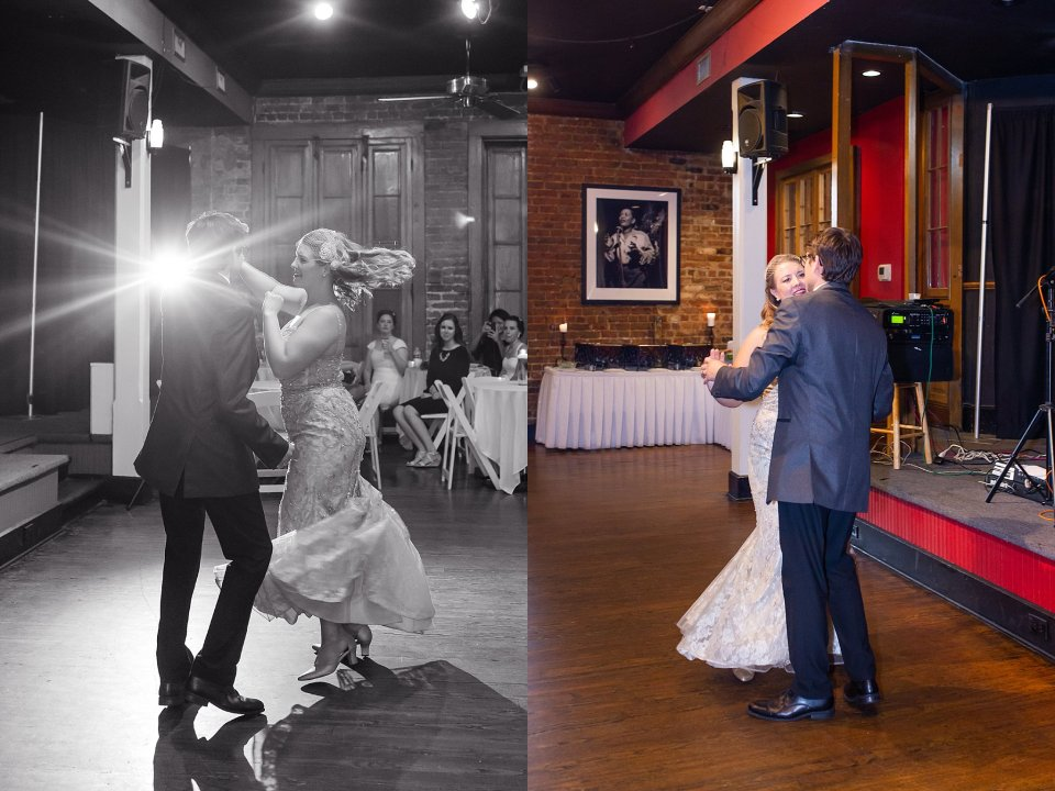 First Dance at Rosy's Jazz Hall in New Orleans with live band Burger and Fries