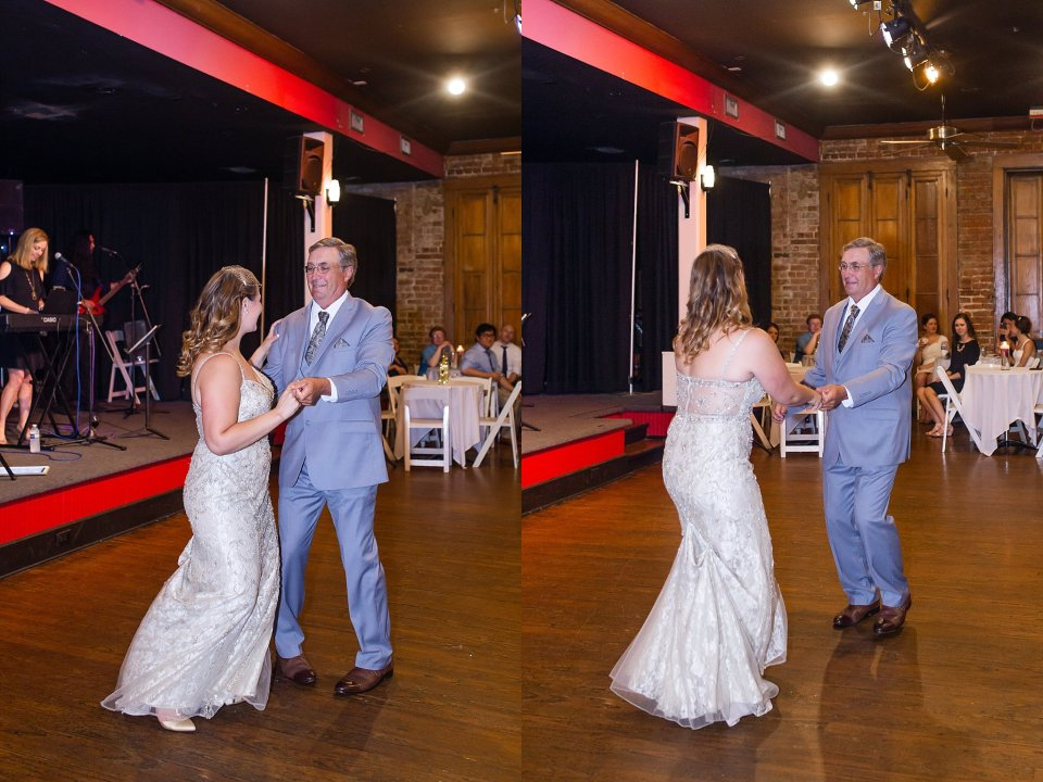 Father Daughter Dance at Rosy's Jazz Hall in New Orleans with live band Burger and Fries