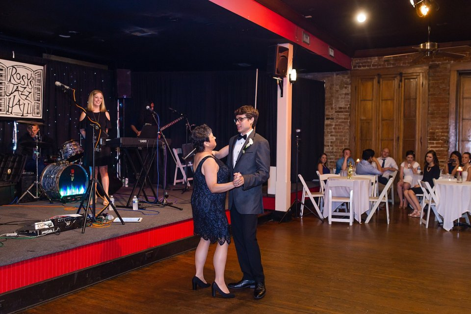 Mother Son Dance at Rosy's Jazz Hall in New Orleans with live band Burger and Fries