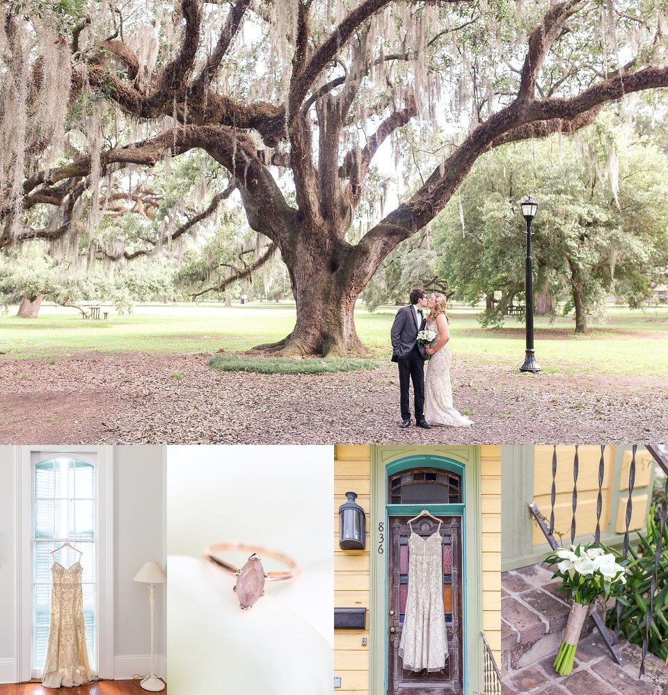 Jazz Inspired Wedding in Audubon Park and Rosy's Jazz Hall in New Orleans