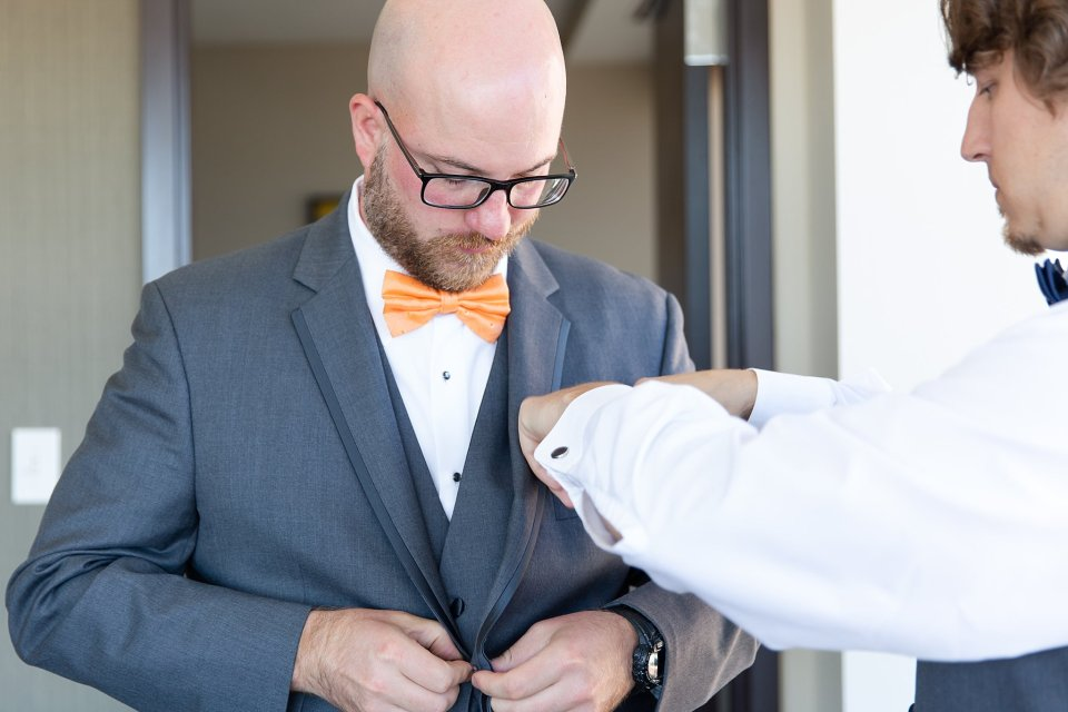Groom getting ready in Champaign by Karen Shoufler Photography