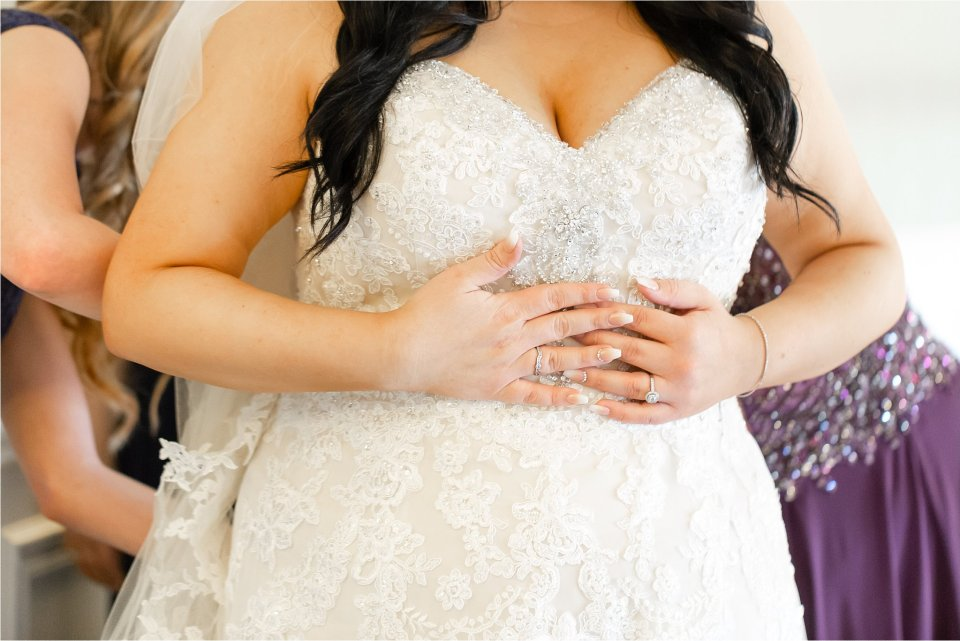Bride getting ready at Tuscany Falls in Tinley Park by Karen Shoufler Photography