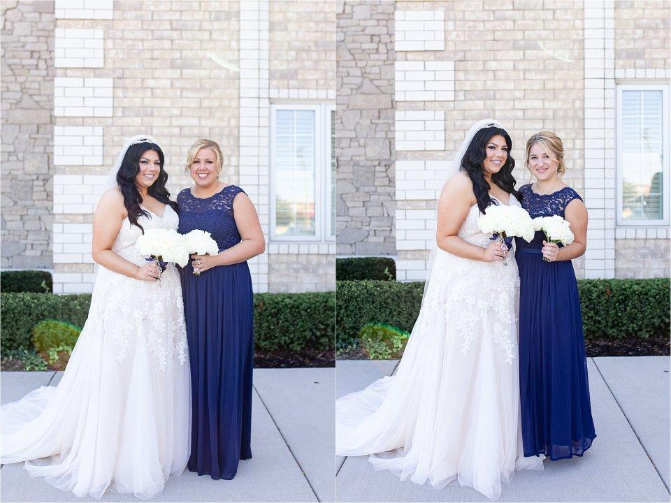 Bride and bridesmaids at Tuscany Falls in Tinley Park by Karen Shoufler Photography