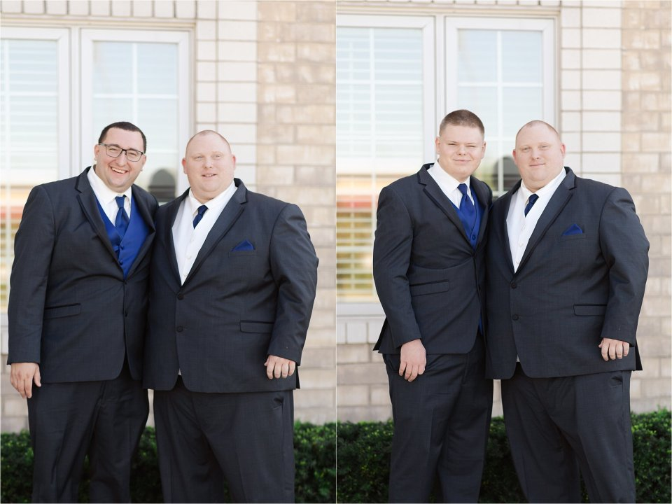 Groom and groomsmen at Tuscany Falls in Tinley Park by Karen Shoufler Photography