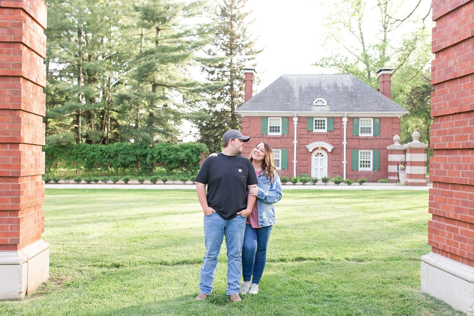 Allerton Park Spring Engagement Session in Monticello, Illinois by Karen Shoufler Photography