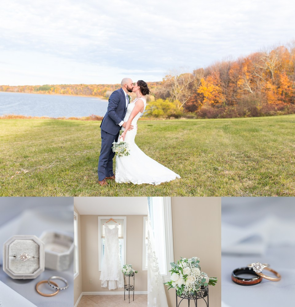 Fall wedding at Hawk's Landing in Southington, Connecticut by travel wedding photographer Karen Shoufler