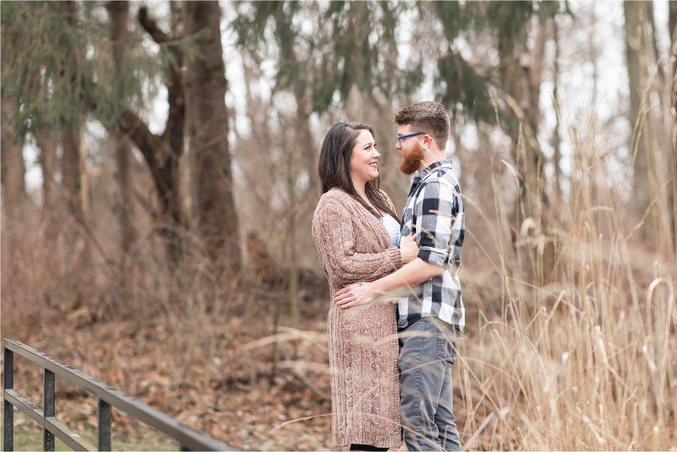 Winter Engagement session at Allerton Park in Monticello by Karen Shoufler