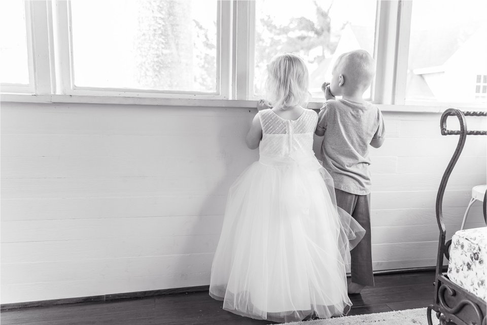 flower girl and ring bearer at Heitman House in downtown Ft Myers, Florida wedding
