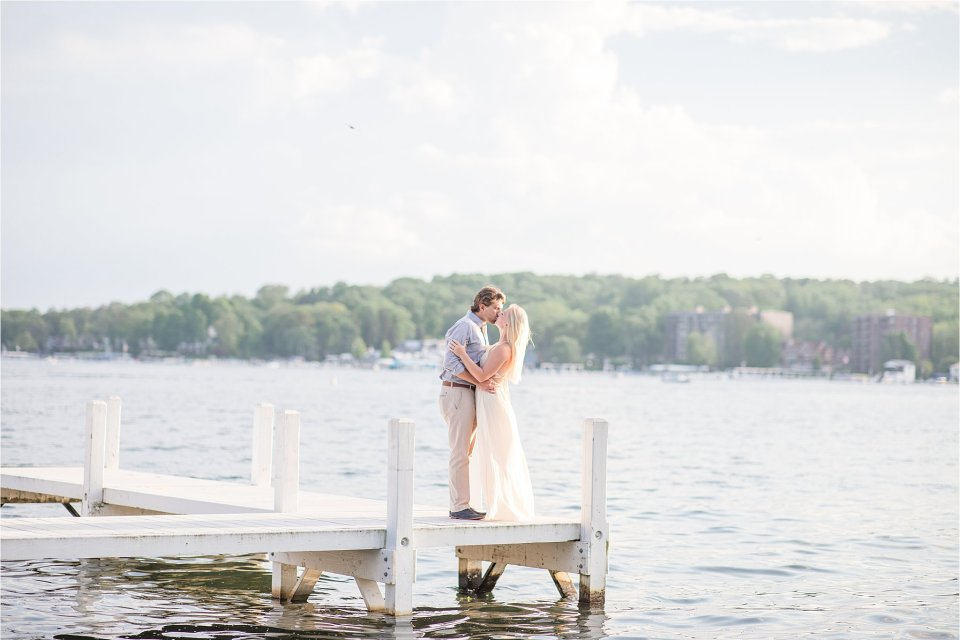Summer engagement session in Lake Geneva Wisconsin