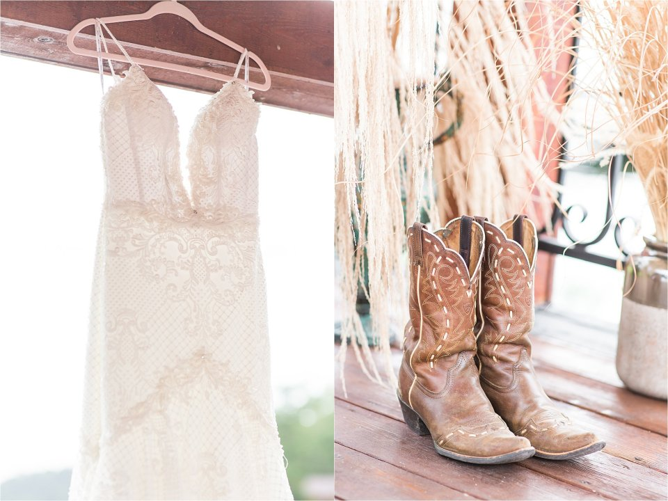 boho chic wedding details