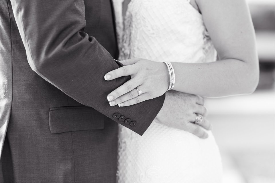 bride and grooms hands