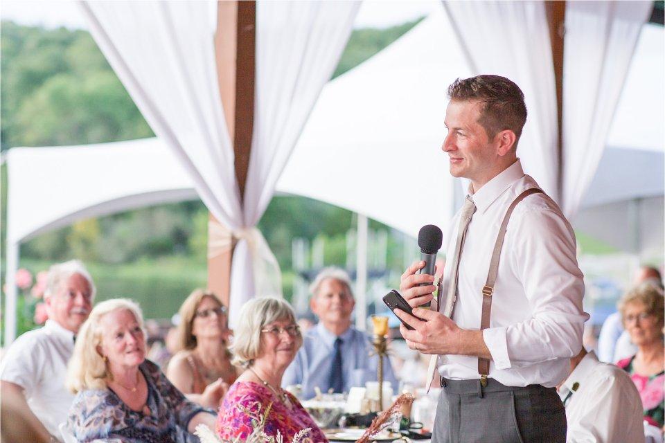 Best man speech at Egyptian Hills Resort wedding