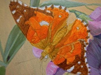 Butterfly step 1 © 2014 Karen A Johnson