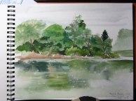 Mayslake sketch © 2014 Karen A. Johnson