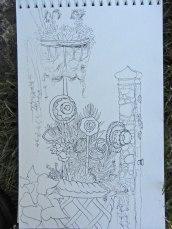 Inked sketch © 2014 Karen A. Johnson