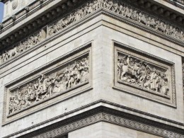 Detail of Arc de Triomphe © 2014 Brett Johnson