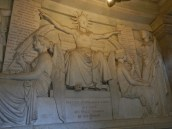 Sculptured frieze-one of many surrounding tomb © 2014 Karen A. Johnson