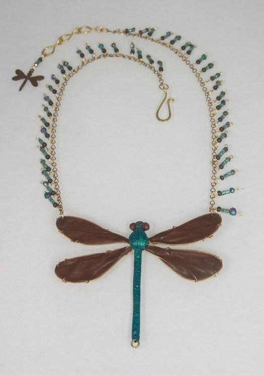 Ebony jewelwing necklace (sold) © 2015 Karen A. Johnson