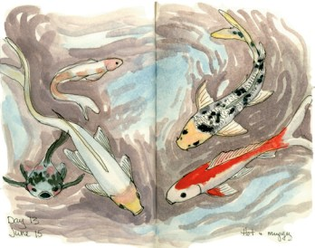 Day 13 Pond Fish © 2016 Karen A. Johnson