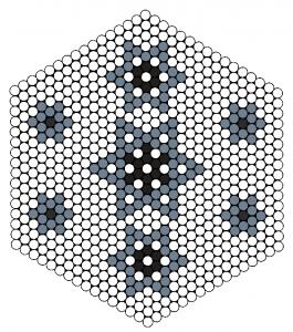 Mønster til stjerne i stribede perler