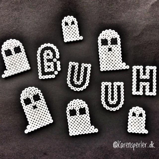 Minispøgelser i hamaperler halloween