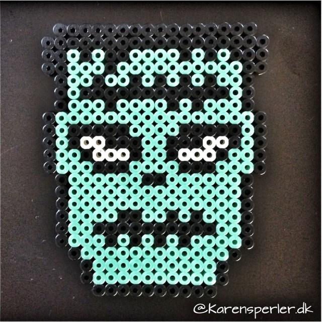 Frankenstein perler Hama halloween