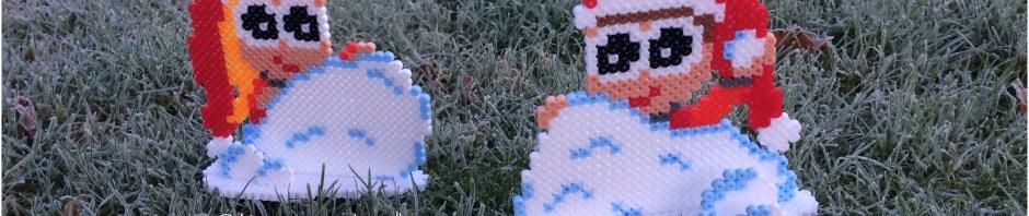 nisser i sneboldkrig hama og artkal perler