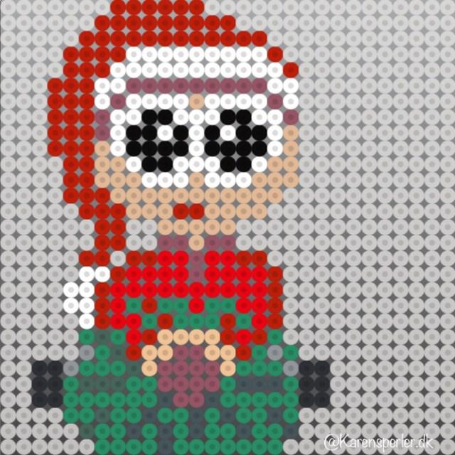 Juletræ nisser i hama perler