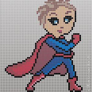 Superhelt i perler - supermor