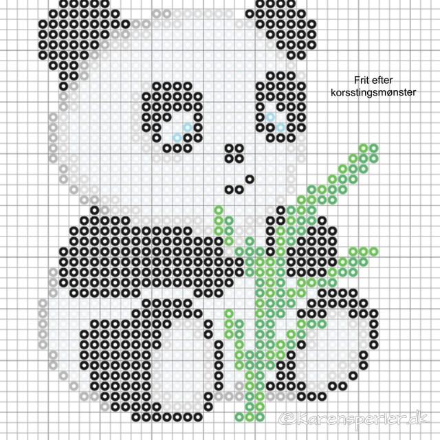 Panda i perler