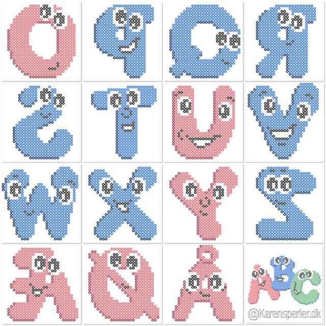Bogstaver og tal i perler