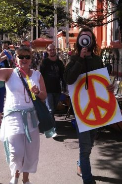 Peace day march 2013