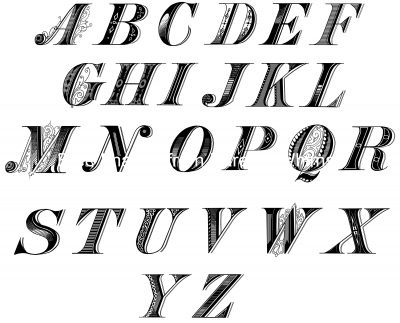Alphabet Lettering 10 Letters A To Z