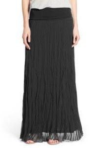 Matty Crinkle Maxi Skirt - Black