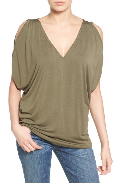 Halogen Cold Shoulder Top
