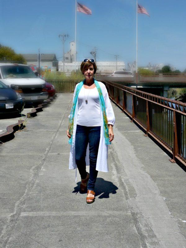 Walking next to Petaluma River