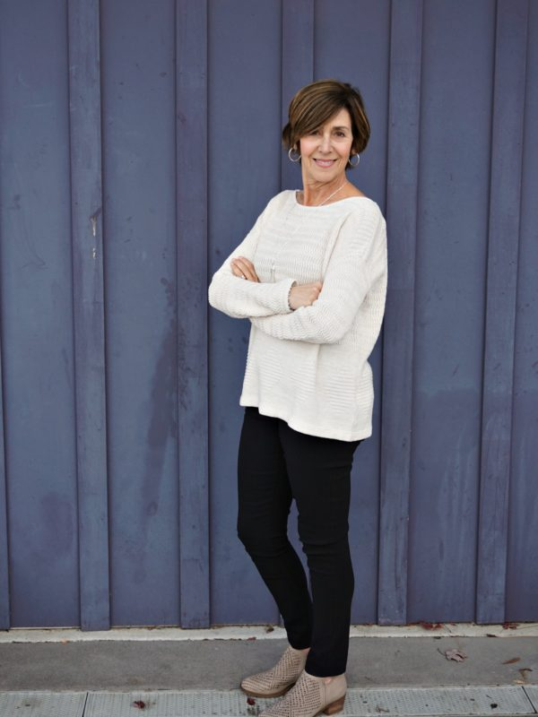 Thanksgiving Outfit - Jana Sweater Blue Wall
