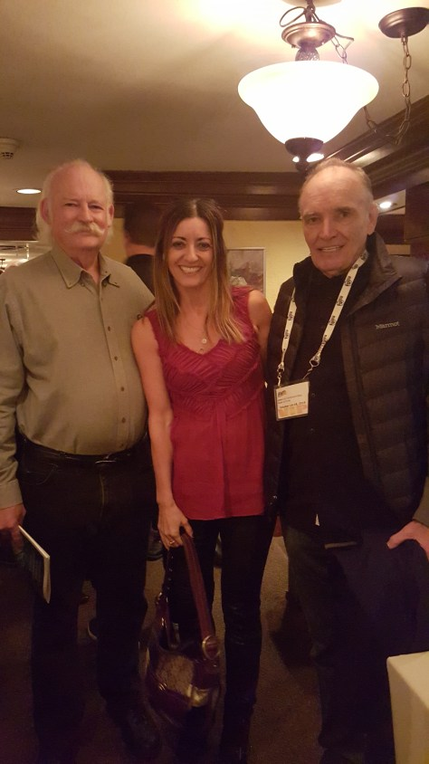 with John Hanson, director of Wildrose, and actor Tom Bower